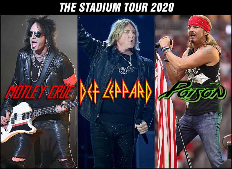 Def Leppard, Motley Crue, Poison and Joan Jett on Tour Together!