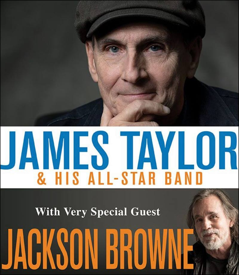 What a set of concerts this will be. Both James Taylor and Jackson Browne performing in the same shows!
