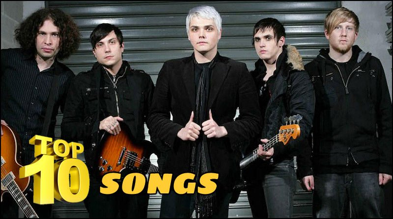 Check out what we believe to be the Top Ten songs by the band My Chemical Romance. The list is below, plus a music video playlist of all the songs.