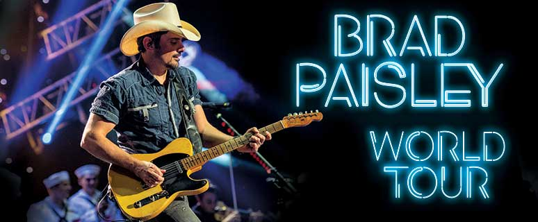 Brad Paisley Sets Dates for 2020 World Tour with Jordan Davis and Gabby Barrett.
