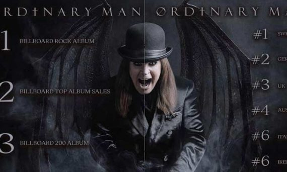 Ozzy's newest album Ordinary Man tops the music charts across the globe!