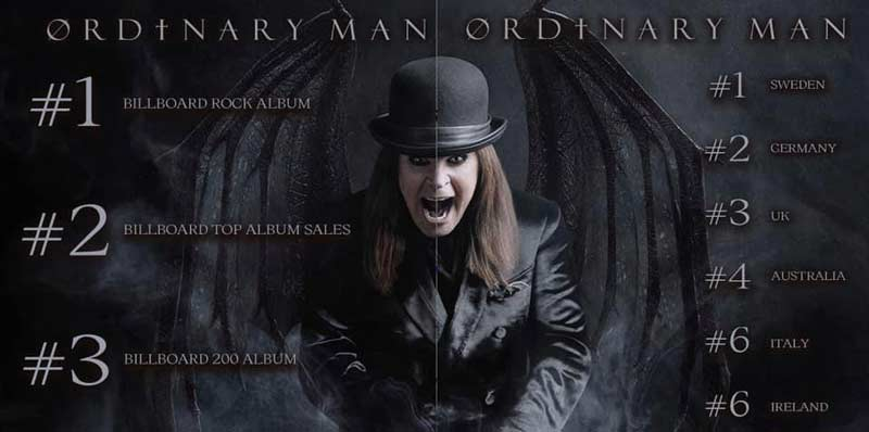 Ozzy's new album Ordinary Man tops global music charts