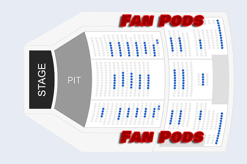 Here is what the seating chart could look like for future concerts, that is until all restrictions are lifted.