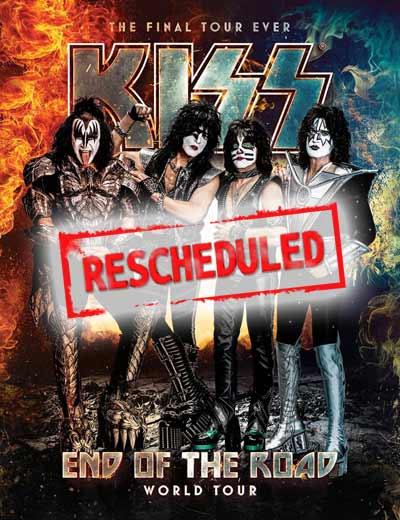 KISS Releases Rescheduled European Tour Dates for 2021.