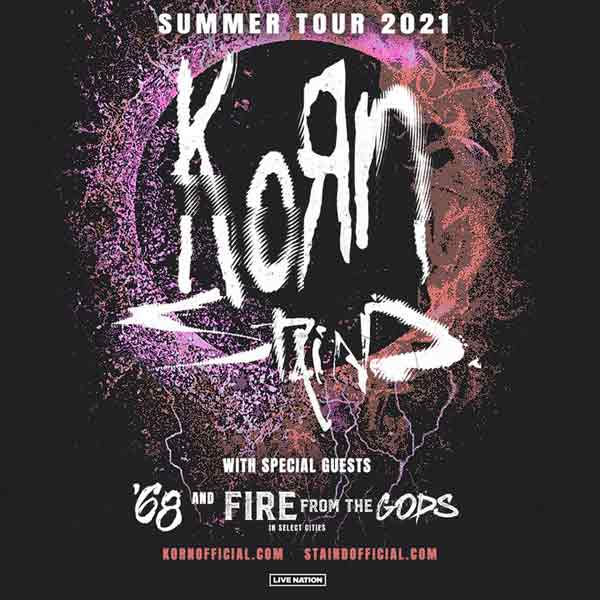 Korn 2021 Tour with Staind