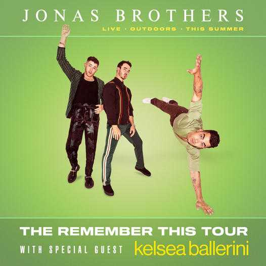 Don't miss The Jonas Brothers on tour in summer of 2021.